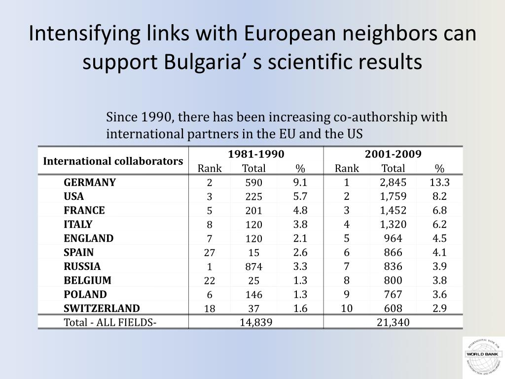 Intensifying links with European neighbors can support Bulgaria' s scientific results
