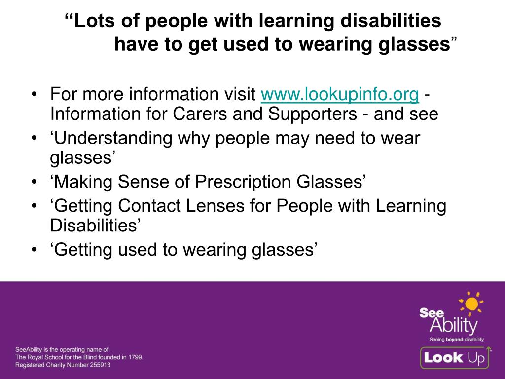 """""""Lots of people with learning disabilities"""