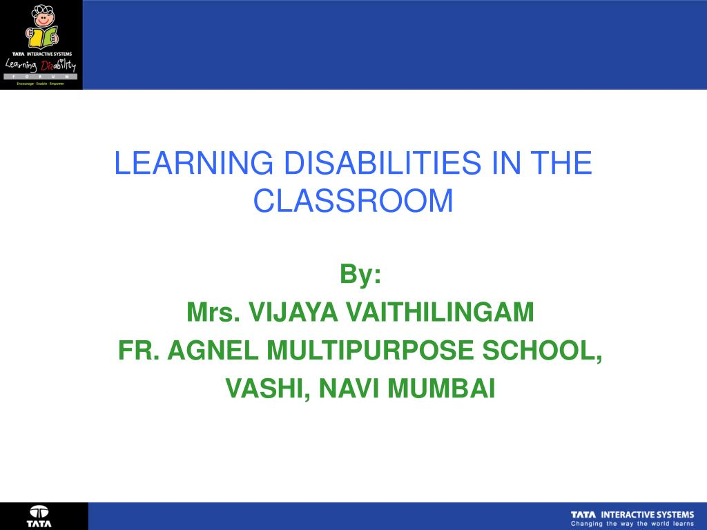 learning disabilities in the classroom l.