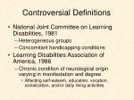controversial definitions