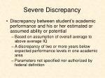 severe discrepancy