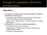 changes in legislation research and education13