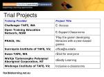 trial projects