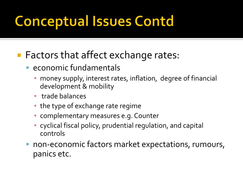 Conceptual Issues Contd