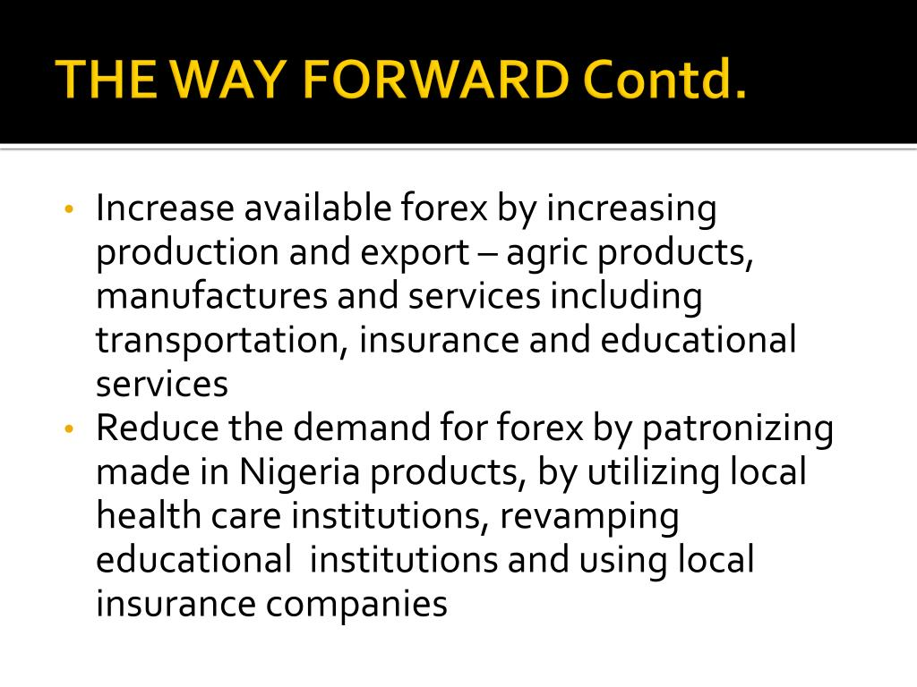 THE WAY FORWARD Contd.