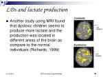 lds and lactate production