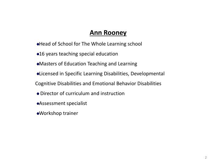 Ann Rooney