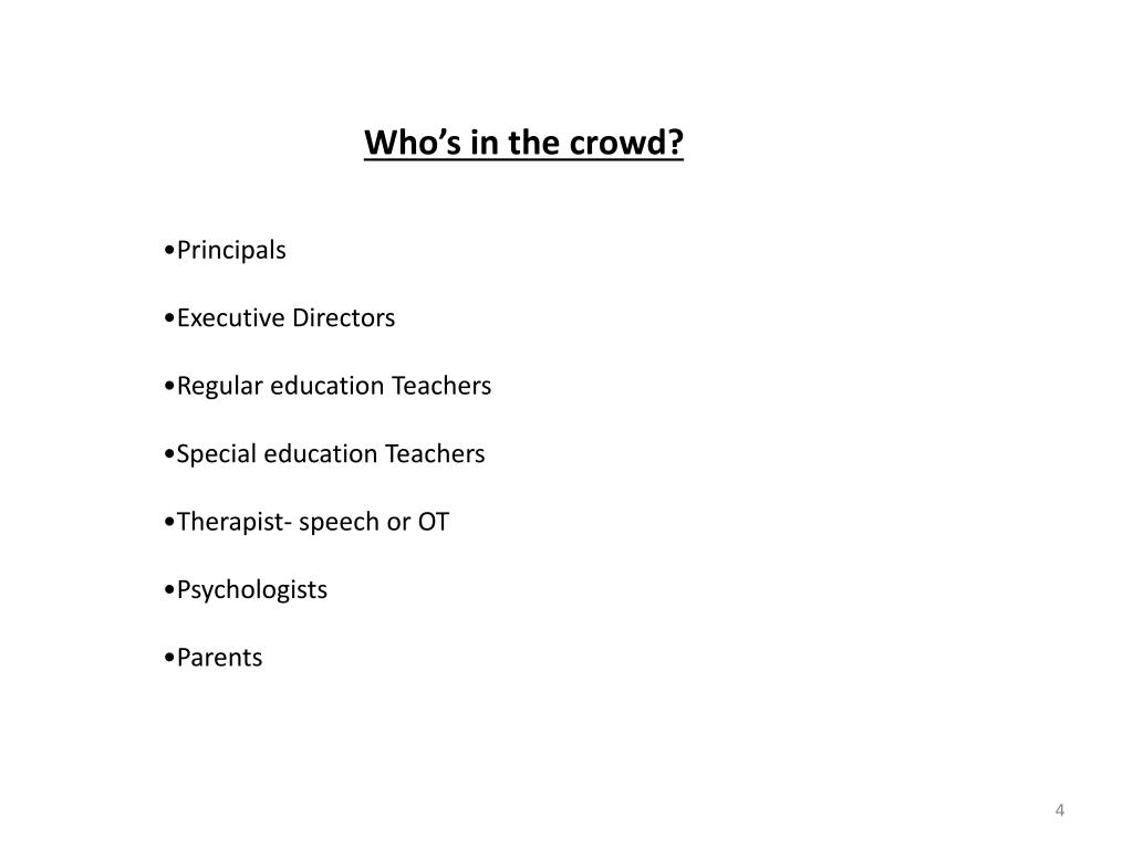 Who's in the crowd?