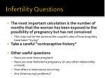 infertility questions