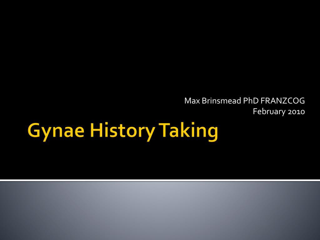 max brinsmead phd franzcog february 2010