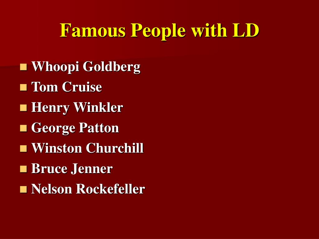Famous People with LD