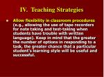 iv teaching strategies30