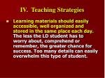 iv teaching strategies31