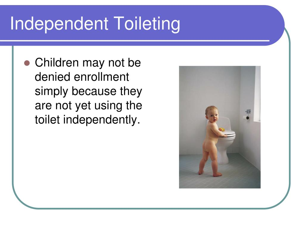 Independent Toileting
