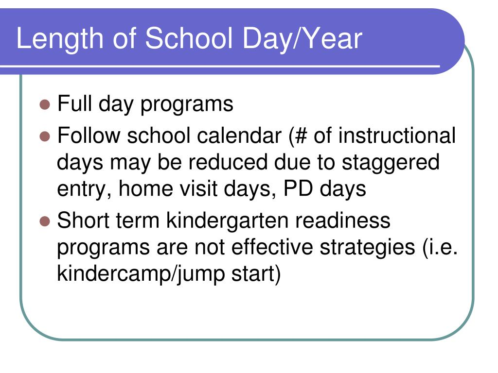 Length of School Day/Year