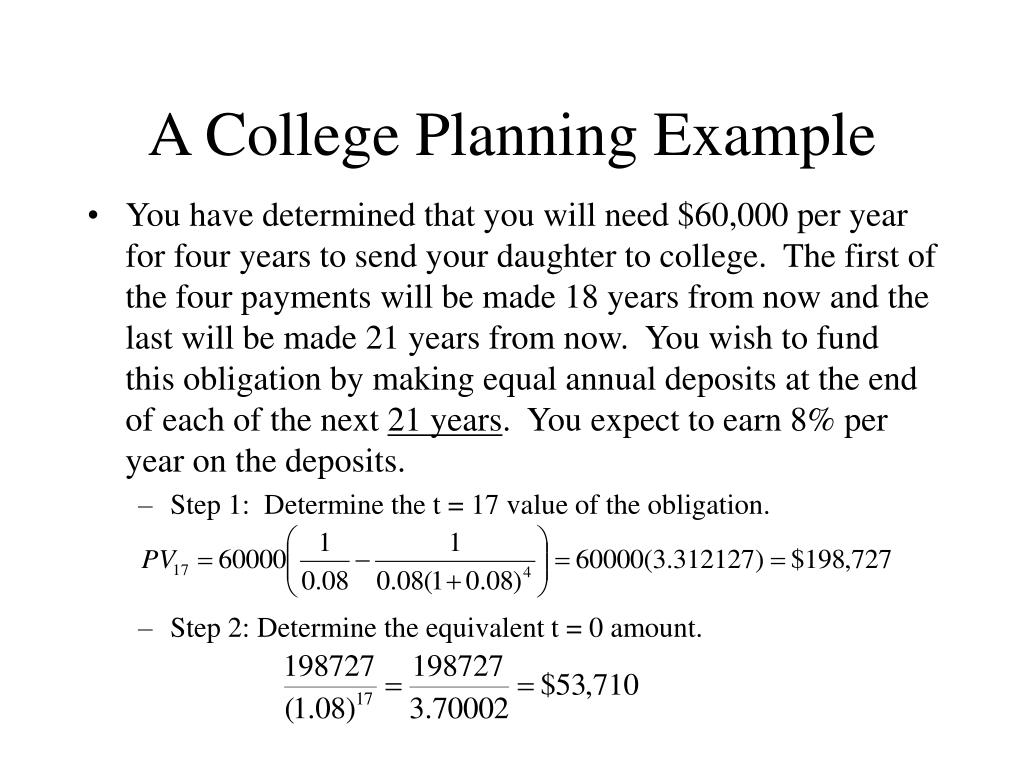 A College Planning Example