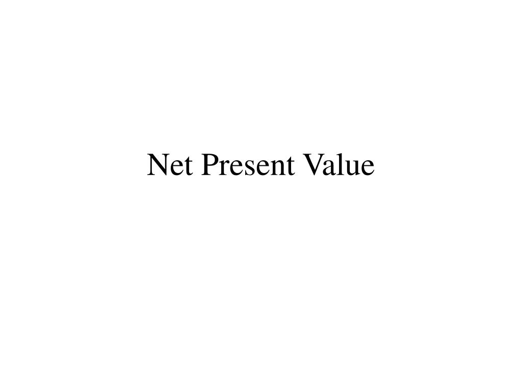 net present value l.