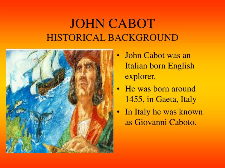 John cabot historical background