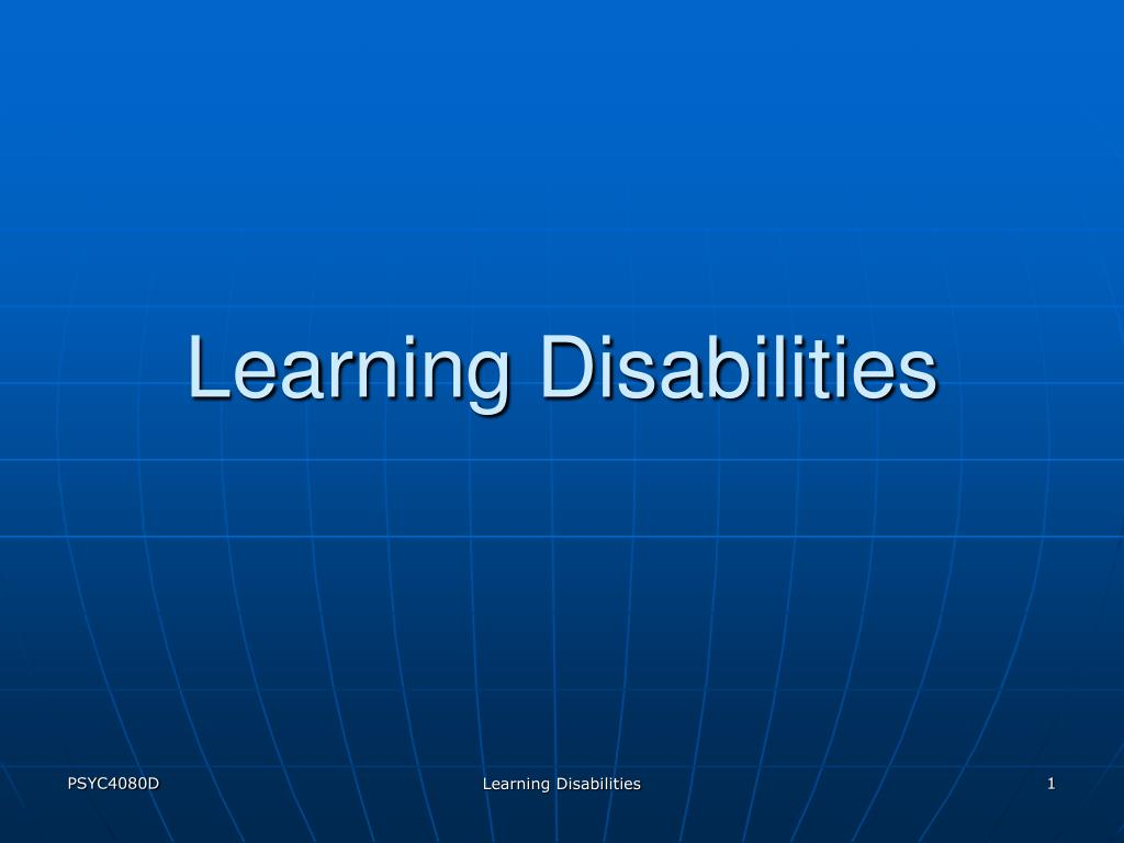 learning disabilities l.