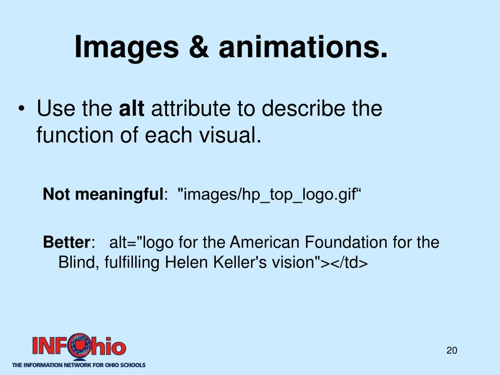 Images & animations.