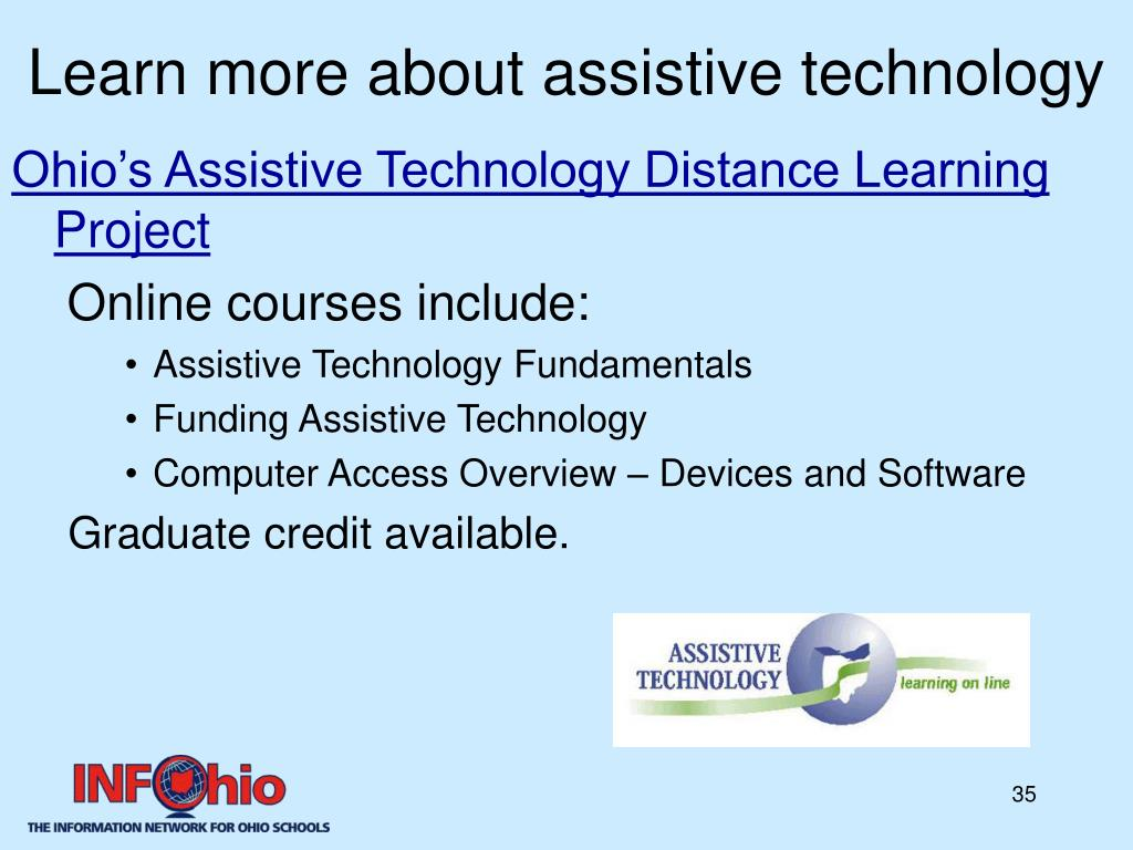 Learn more about assistive technology