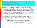 family outcomes part b indicator 8