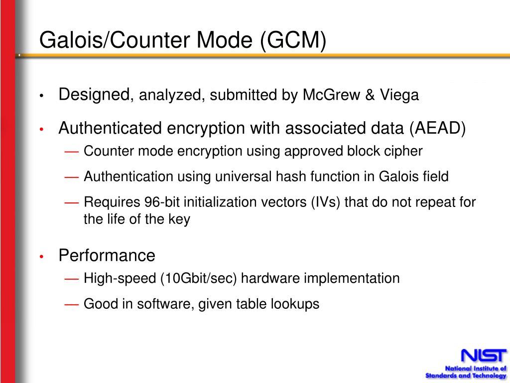 Galois/Counter Mode (GCM)