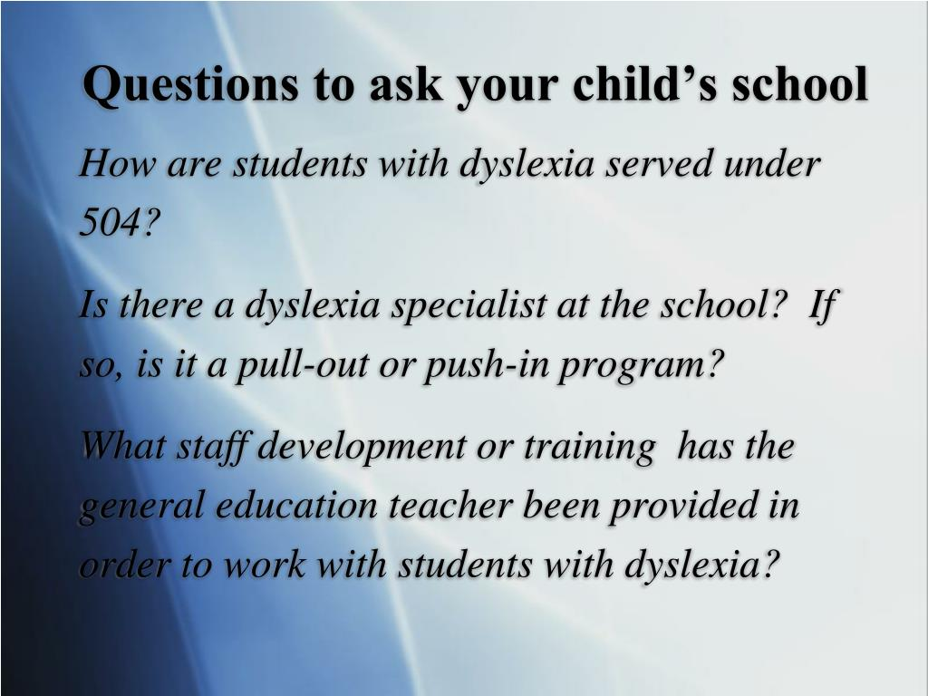 Questions to ask your child's school