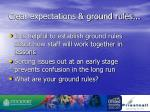 clear expectations ground rules