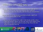 what do ofsted say