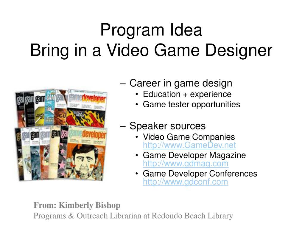 Program Idea