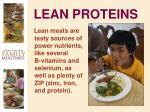 lean proteins