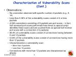 characterization of vulnerability scans cont