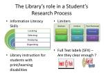 the library s role in a student s research process