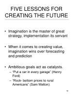 five lessons for creating the future