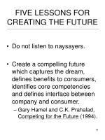 five lessons for creating the future11