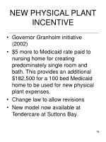 new physical plant incentive
