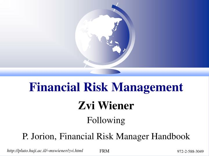 financial risk management n.