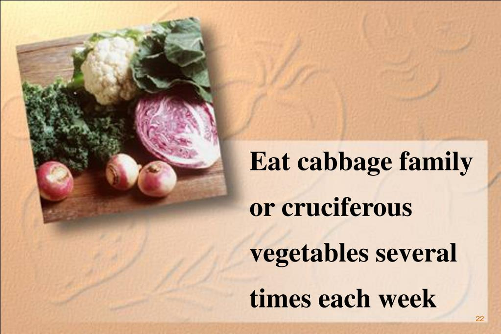Eat cabbage family