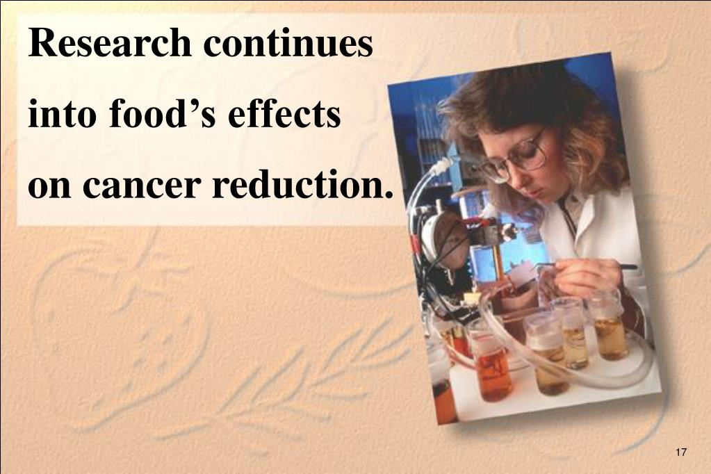 Research continues into food's effects