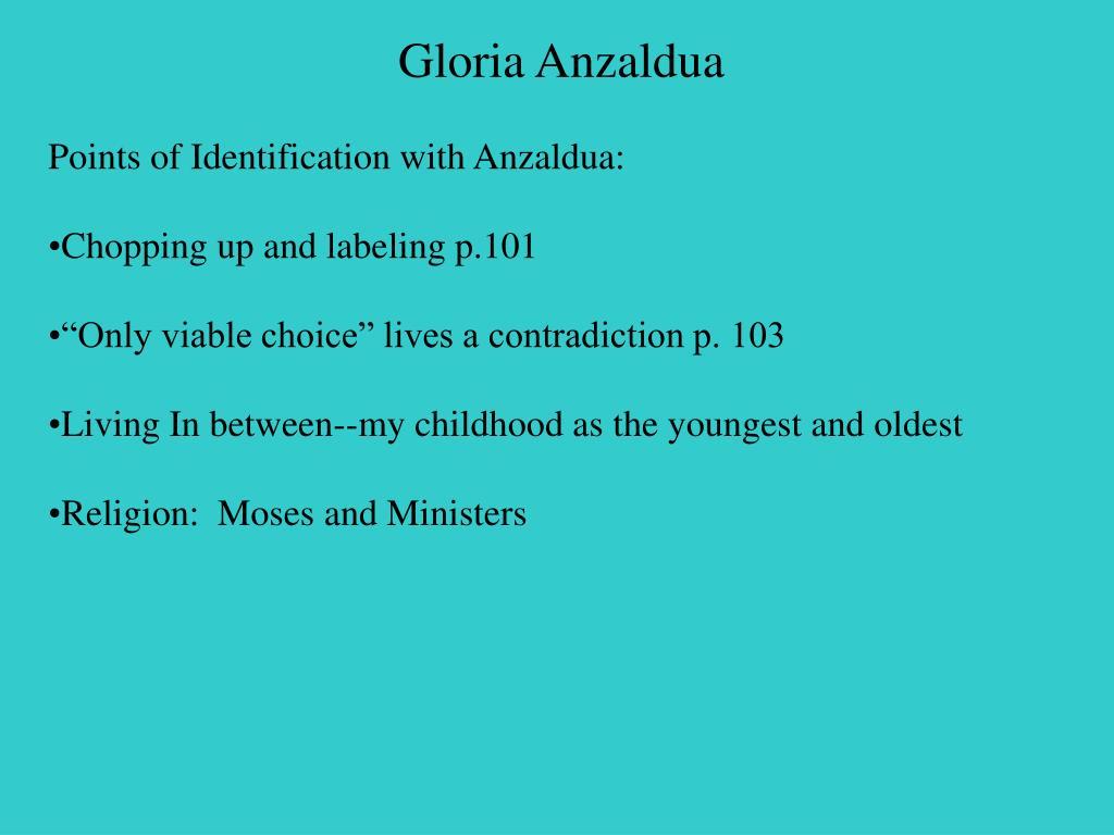 gloria anzaldua entering into the serpent