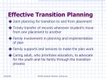 effective transition planning