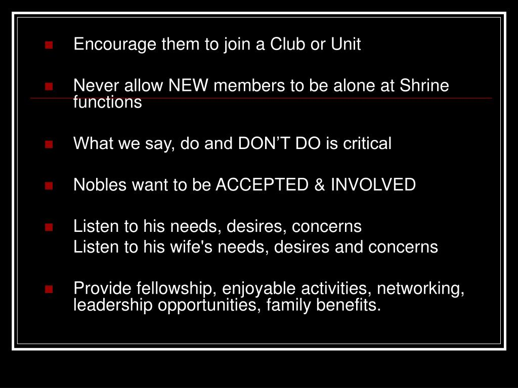 Encourage them to join a Club or Unit