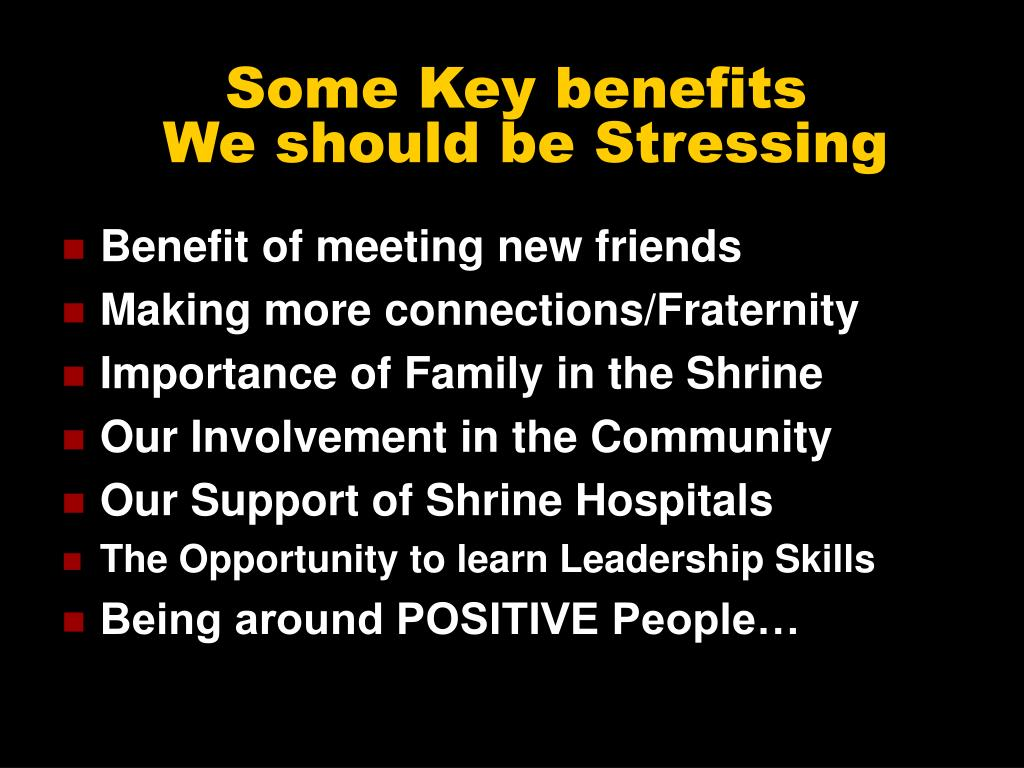 Some Key benefits
