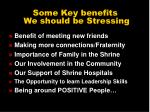 some key benefits we should be stressing