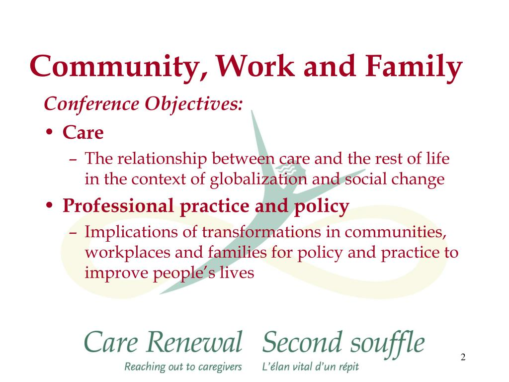 Community, Work and Family
