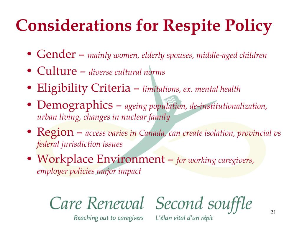 Considerations for Respite Policy