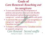 goals of care renewal reaching out to caregivers14