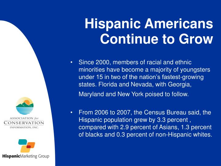 Hispanic americans continue to grow