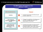 2 content and structure of the m e strengthening tool